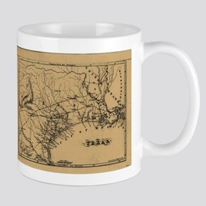 Vintage Map of Texas (1838) Mugs